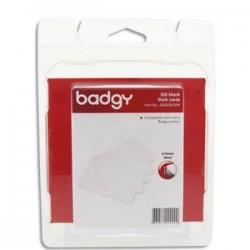 EVOLIS Badgy Lot de 100 cartes PVC épaisses (30mil - 0,76mm) CBGC0030W