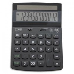 CITIZEN Calculatrice de bureau 12 chiffres ECC 310 ECO noire certifiée Blue Angel