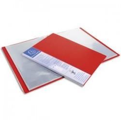 EXACOMPTA Protège-documents UPLINE en polypropylène opaque. 40 vues, 20 pochettes. Coloris rouge.
