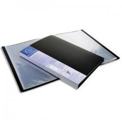 EXACOMPTA Protège-documents UPLINE en polypropylène opaque. 60 vues, 30 pochettes. Coloris noir.