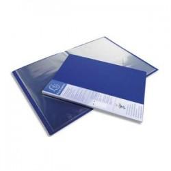 EXACOMPTA Protège-documents UPLINE en polypropylène opaque. 80 vues, 40 pochettes. Coloris bleu.