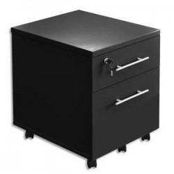 MT INTERNATIONAL Caisson mobile 2 tiroirs MT3 Elégance - Dimensions : L42 x H54 x P50 cm noir
