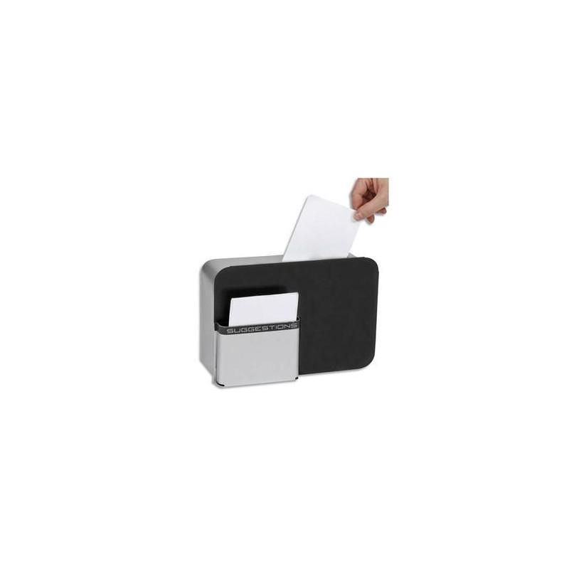 ALBA Boîte à idées IDBOX fermeture à clé, 2 fournies, compartiment fiches - L28 x H19 x P10,5 cm gris