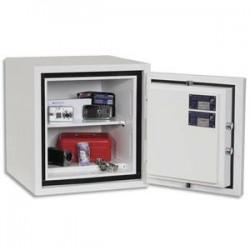 PHOENIX Coffre-fort CITADEL serrure à clés 31 litres blanc EN14450 - Dimensions : L44 x H46 x P44 cm
