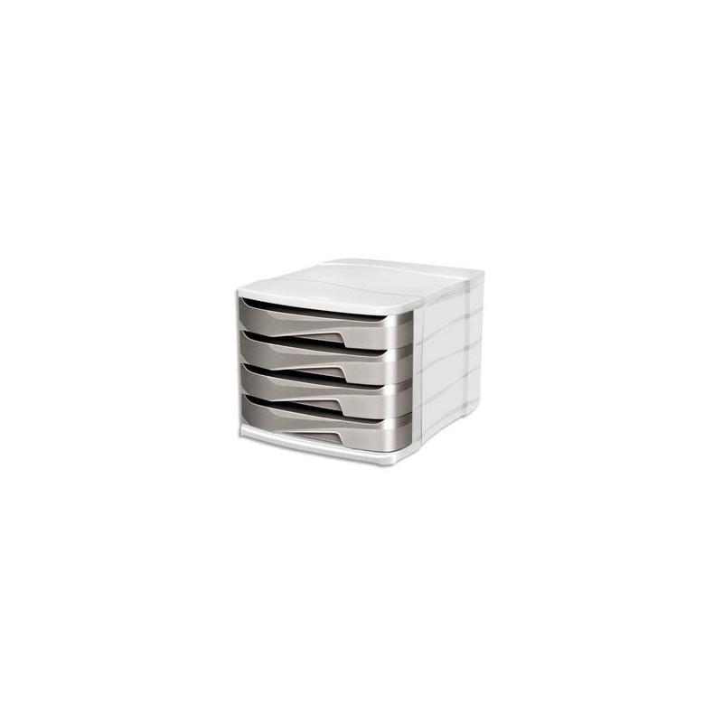 CEP Module de classement Ellypse XtraStrong 4 tiroirs - Dimensions : L38,6 x H24,6 x P29,2 cm taupe