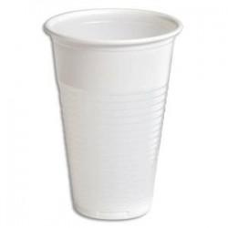 HUHTAMAKI Sachet de 100 gobelets 20 cl blanc manuel en polypropylène - Hauteur 9,8 cm Diamètre 7,03 cm