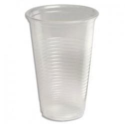 HUHTAMAKI Sachet de 100 gobelets 20 cl transparents en polypropylène - Hauteur 9,6 cm Diamètre 7,03 cm