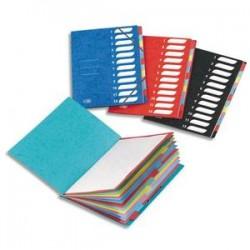 ELBA Trieurs 12 compartiments coloris assortis, couverture en carte lustrée 5/10ème bicolore