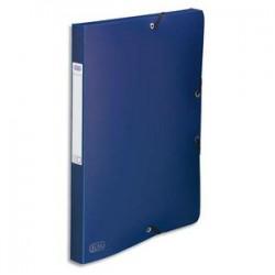 ELBA Chemise 3 rabats et élastique Memphis , dos formé 2,5 cm, polypropylène 7/10e bleu