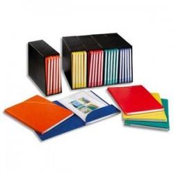 ELBA Conteneur noir + 5 chemises coloris assortis carton rigide Alpina. Dos 1,5cm.