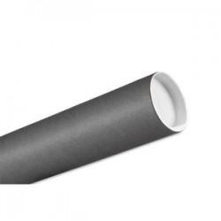 EMBALLAGE Tube carton gris diamètre 8 cm longueur 65 cm
