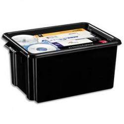 CEP Bac de rangement superposable avec poignée de 32 litres coloris noir