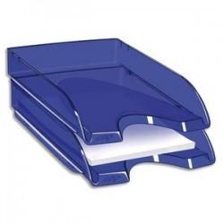 CEP Corbeille à courrier Happy bleu électrique transparent. Dimensions : L34,5 x H6,4 x P26 cm