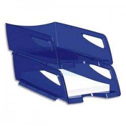 CEP Maxi corbeille à courrier Happy bleu électrique, dimensions : L25 x H10,1 x P34 cm