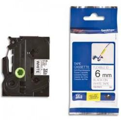BROTHER Ruban pour PTOUCH flexible laminé noir/blanc 6mmx8m TZEFX211