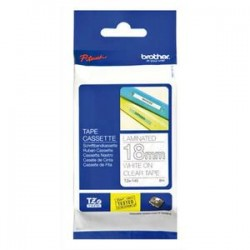 BROTHER Ruban pour PTOUCH laminé blanc/transparents 18mx8m TZE145