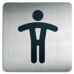 DURABLE Plaques de signalisation Toilettes Hommes argent métallisé 15x15 cm