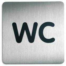 DURABLE Plaques de signalisation WC argent métallisé 15x15 cm
