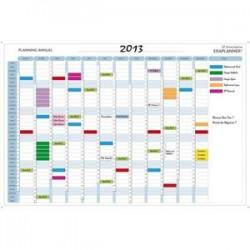 EXACOMPTA Planning annuel magnétique 90x59cm vendu en kit avec de nombreux accessoires 56150E