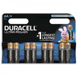 DURACELL Blister de 8 piles Alcalines 1,5V AA LR06 Ultra Power Duralock