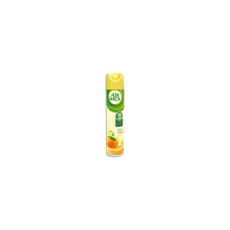 AIR WICK Désodorisant d'atmosphère 4 en 1 aérosol 300ml parfum zeste d'agrumes