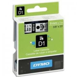 DYMO Ruban D1 noir/transparent 9MMX7M pour 1000/1000+/2000/3500/4500/5000/5503