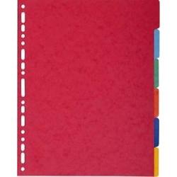 EXACOMPTA Jeu d'intercalaires 6 positions maxi format pour pochettes, en carte lustrée 5/10e