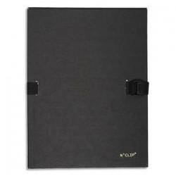 EXACOMPTA Chemise extensible 223500 , recouverte de papier contrecollé noir