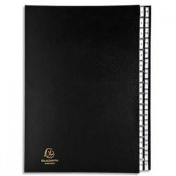 EXACOMPTA Trieur numérique 31 compartiments noir, couverture rigide plastifiée, onglets en plastique