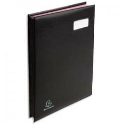 EXACOMPTA Parapheur 24 compartiments noir, couverture en PVC expansé