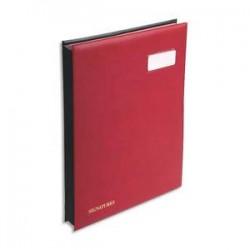 EXACOMPTA Parapheur 24 compartiments bordeaux, couverture en PVC expansé
