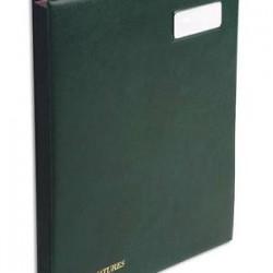 EXACOMPTA Parapheur 24 compartiments vert, couverture en PVC expansé
