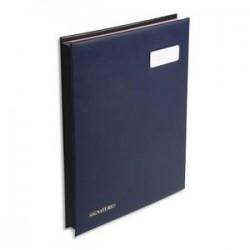 EXACOMPTA Parapheur 24 compartiments bleu, couverture en PVC expansé