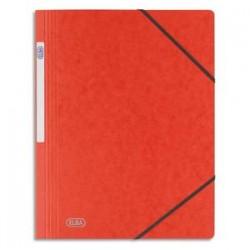 ELBA Chemise simple à élastique Topfile , en carte lustrée 5/10e rouge