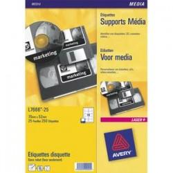 AVERY Pochette de 2100 étiquettes diapositives 46X11.1 L7656-25