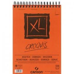 CANSON Album de 120 feuilles de papier dessin CROQUIS XL spirale 90g A4 Ref-787103