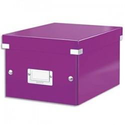 LEITZ Boîte CLICK&STORE M-Box. Format A4 - Dimensions : L281xH200xP369mm. Coloris violet.