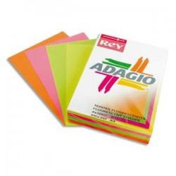 PAPYRUS Ramette 500 feuilles papier couleur flash ADAGIO mandarine fluo A4 80g