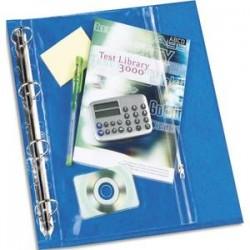 ELBA Sachet de 10 pochettes perforées à Zip en polypro 14/100. Format A4, 11 trous.
