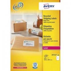 AVERY Boîte de 100 étiquettes adresse laser recyclées blanc 199,6 x 289,1 mm LR7167-100