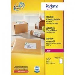AVERY Boîte de 200 étiquettes adresse laser recyclées blanc 199,6 x 143,5 mm LR7168-100