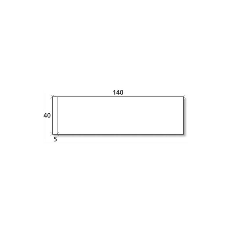 NEUTRE Boîte de 1000 étiquettes d'affranchissement 1 front format 140x40 mm.