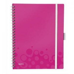 LEITZ Cahier BE MOBILE spirales A4 160 pages détachables 80g A4 5x5. Couverture polypro assortis