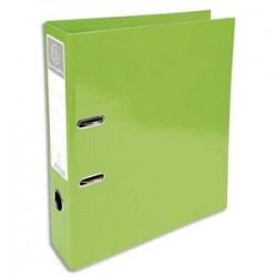 EXACOMPTA Classeur à levier IDERAMA en carton pelliculé. Dos 7 cm. Format A4+. Coloris vert clair