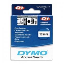 DYMO Ruban D1 noir/transparent 19MMX7M pour 1000/1000+/2000/3500/4500/5000/5521