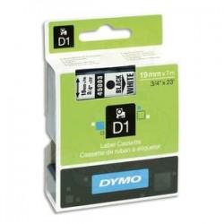 DYMO Ruban D1 noir/blanc19MMX7M pour 1000/1000+/2000/3500/4500/5000/5524