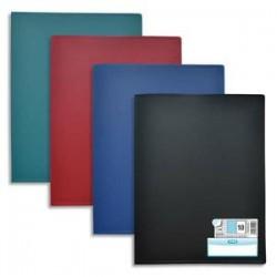 ELBA Protège-documents en polypropylène 160 vues assortis classique , couv. 3/10e, pochettes 6/100e
