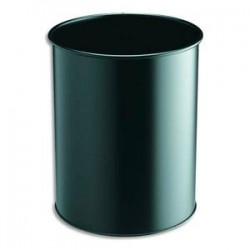 DURABLE Corbeille à papier Confort métal 15 litres noir Diam 31,5 x H 26 cm