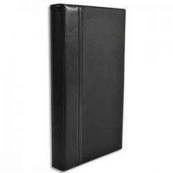 ELBA Classeur porte-cartes de visite Elégance noir 140 cartes capacité 300 cartes L18,5 x H28,5 cm