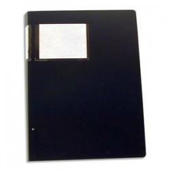 ELBA Protège-documents en polypropylène 40 vues format A3 noir , couverture 8/10e, pochettes 6/100e